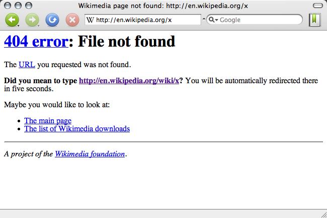 most common web errors